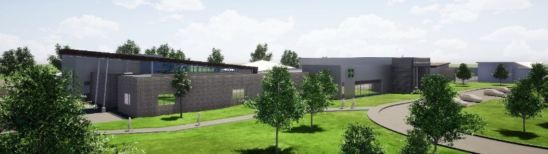 Architectural renderings of the Eighth and Ninth Grade Academy at Alice Robertson.